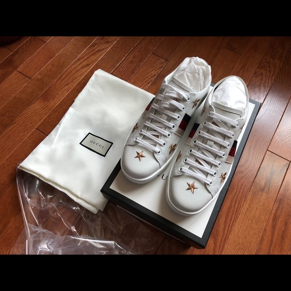 f25655593 Gucci Shoes | Brand New Ace Bee Star Collapsible | Poshmark